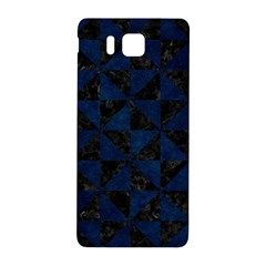 Triangle1 Black Marble & Blue Grunge Samsung Galaxy Alpha Hardshell Back Case by trendistuff
