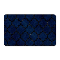 Tile1 Black Marble & Blue Grunge (r) Magnet (rectangular) by trendistuff