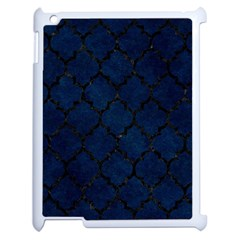 Tile1 Black Marble & Blue Grunge (r) Apple Ipad 2 Case (white) by trendistuff