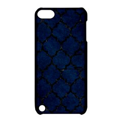 Tile1 Black Marble & Blue Grunge (r) Apple Ipod Touch 5 Hardshell Case With Stand by trendistuff