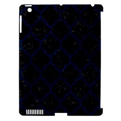 Tile1 Black Marble & Blue Grunge Apple Ipad 3/4 Hardshell Case (compatible With Smart Cover) by trendistuff