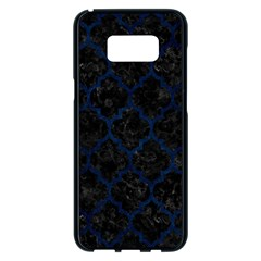 Tile1 Black Marble & Blue Grunge Samsung Galaxy S8 Plus Black Seamless Case