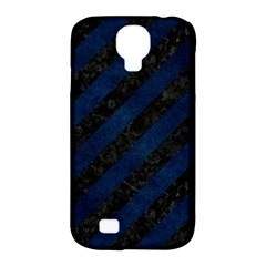Stripes3 Black Marble & Blue Grunge Samsung Galaxy S4 Classic Hardshell Case (pc+silicone) by trendistuff