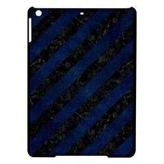 Stripes3 Black Marble & Blue Grunge Apple Ipad Air Hardshell Case by trendistuff