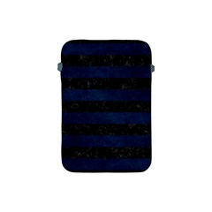 Stripes2 Black Marble & Blue Grunge Apple Ipad Mini Protective Soft Case by trendistuff