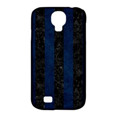 Stripes1 Black Marble & Blue Grunge Samsung Galaxy S4 Classic Hardshell Case (pc+silicone) by trendistuff
