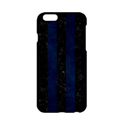 Stripes1 Black Marble & Blue Grunge Apple Iphone 6/6s Hardshell Case by trendistuff
