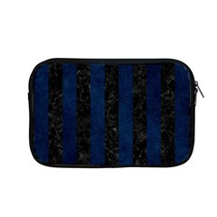 Stripes1 Black Marble & Blue Grunge Apple Macbook Pro 13  Zipper Case by trendistuff