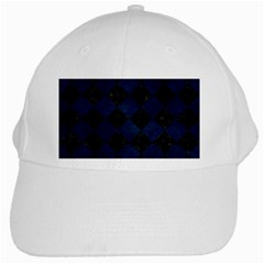 Square2 Black Marble & Blue Grunge White Cap by trendistuff