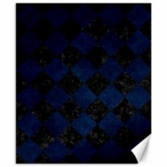 Square2 Black Marble & Blue Grunge Canvas 8  X 10  by trendistuff