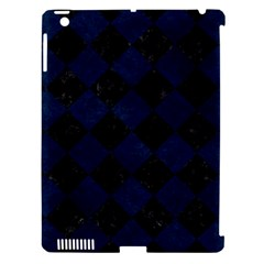 Square2 Black Marble & Blue Grunge Apple Ipad 3/4 Hardshell Case (compatible With Smart Cover) by trendistuff