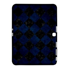 Square2 Black Marble & Blue Grunge Samsung Galaxy Tab 4 (10 1 ) Hardshell Case  by trendistuff