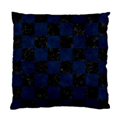 Square1 Black Marble & Blue Grunge Standard Cushion Case (one Side) by trendistuff