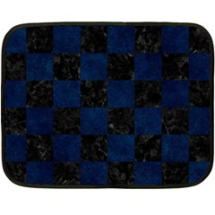 Square1 Black Marble & Blue Grunge Double Sided Fleece Blanket (mini) by trendistuff