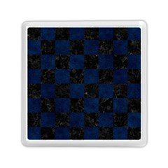 Square1 Black Marble & Blue Grunge Memory Card Reader (square) by trendistuff