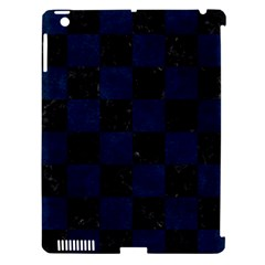 Square1 Black Marble & Blue Grunge Apple Ipad 3/4 Hardshell Case (compatible With Smart Cover) by trendistuff