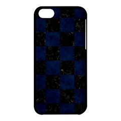 Square1 Black Marble & Blue Grunge Apple Iphone 5c Hardshell Case by trendistuff