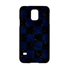 Square1 Black Marble & Blue Grunge Samsung Galaxy S5 Hardshell Case  by trendistuff