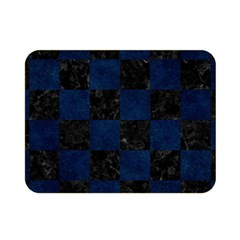 Square1 Black Marble & Blue Grunge Double Sided Flano Blanket (mini) by trendistuff