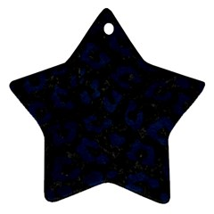 Skin5 Black Marble & Blue Grunge (r) Ornament (star) by trendistuff