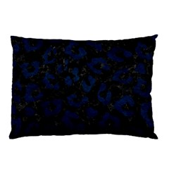 Skin5 Black Marble & Blue Grunge (r) Pillow Case (two Sides) by trendistuff