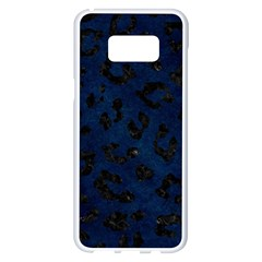 Skin5 Black Marble & Blue Grunge Samsung Galaxy S8 Plus White Seamless Case by trendistuff