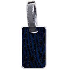 Skin4 Black Marble & Blue Grunge (r) Luggage Tag (two Sides) by trendistuff