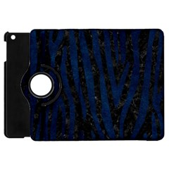 Skin4 Black Marble & Blue Grunge (r) Apple Ipad Mini Flip 360 Case by trendistuff