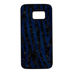 Skin4 Black Marble & Blue Grunge (r) Samsung Galaxy S7 Black Seamless Case