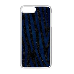 Skin4 Black Marble & Blue Grunge (r) Apple Iphone 7 Plus White Seamless Case by trendistuff