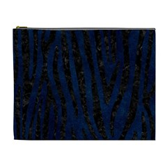 Skin4 Black Marble & Blue Grunge Cosmetic Bag (xl) by trendistuff