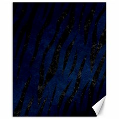 Skin3 Black Marble & Blue Grunge (r) Canvas 16  X 20  by trendistuff
