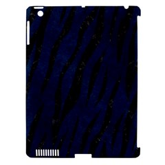 Skin3 Black Marble & Blue Grunge (r) Apple Ipad 3/4 Hardshell Case (compatible With Smart Cover) by trendistuff