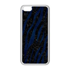 Skin3 Black Marble & Blue Grunge Apple Iphone 5c Seamless Case (white) by trendistuff