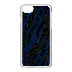 Skin3 Black Marble & Blue Grunge Apple Iphone 7 Seamless Case (white) by trendistuff