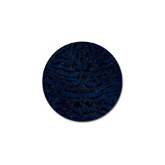 Skin2 Black Marble & Blue Grunge (r) Golf Ball Marker by trendistuff