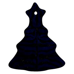 Skin2 Black Marble & Blue Grunge (r) Ornament (christmas Tree)  by trendistuff