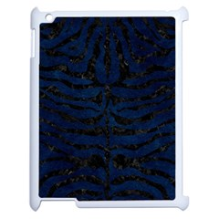Skin2 Black Marble & Blue Grunge (r) Apple Ipad 2 Case (white) by trendistuff