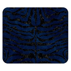 Skin2 Black Marble & Blue Grunge (r) Double Sided Flano Blanket (small) by trendistuff
