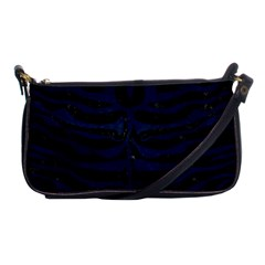 Skin2 Black Marble & Blue Grunge Shoulder Clutch Bag by trendistuff