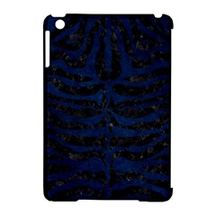 Skin2 Black Marble & Blue Grunge Apple Ipad Mini Hardshell Case (compatible With Smart Cover) by trendistuff