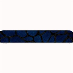 Skin1 Black Marble & Blue Grunge Small Bar Mat by trendistuff