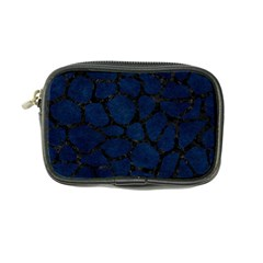 Skin1 Black Marble & Blue Grunge Coin Purse by trendistuff