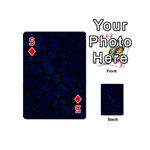 SKIN1 BLACK MARBLE & BLUE GRUNGE Playing Cards 54 (Mini) Front - Diamond5