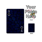 SKIN1 BLACK MARBLE & BLUE GRUNGE Playing Cards 54 (Mini) Front - Spade7