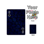 SKIN1 BLACK MARBLE & BLUE GRUNGE Playing Cards 54 (Mini) Front - Spade9