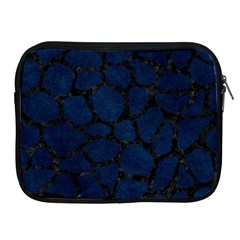 Skin1 Black Marble & Blue Grunge Apple Ipad Zipper Case by trendistuff