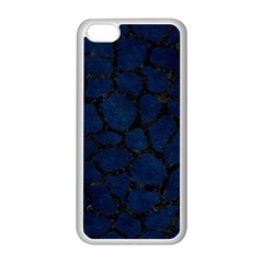 Skin1 Black Marble & Blue Grunge Apple Iphone 5c Seamless Case (white) by trendistuff