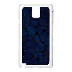 Skin1 Black Marble & Blue Grunge Samsung Galaxy Note 3 N9005 Case (white) by trendistuff