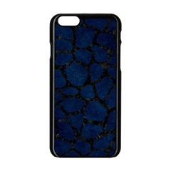 Skin1 Black Marble & Blue Grunge Apple Iphone 6/6s Black Enamel Case by trendistuff